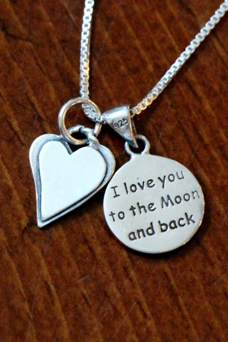 Iove you to moon and back necklace with heart MG_0471