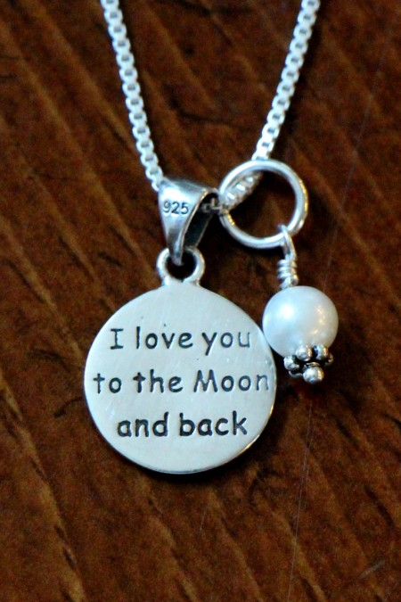 love you to moon and back necklace with pearl IMG_0473