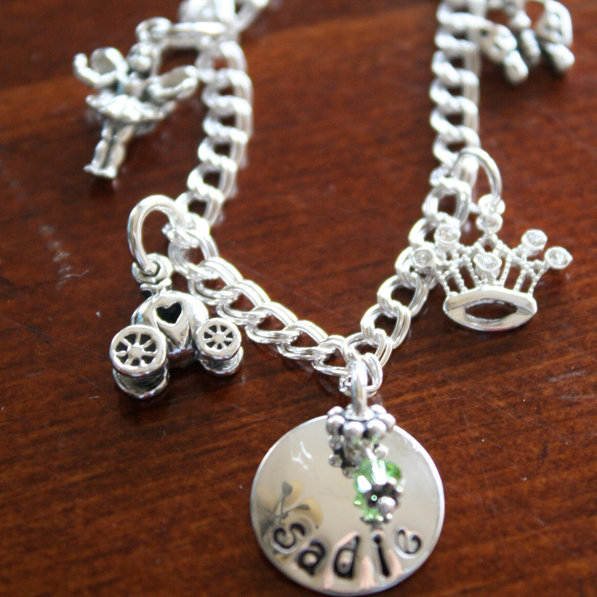 Big sister personalized necklace or charm bracelet gift k amp s