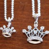 A Mother and Daughter Tiara Crown Necklace Set