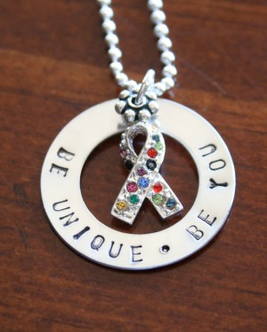 Autism Jewelry Sterling Silver Be Unique Necklace K Amp S Impressions