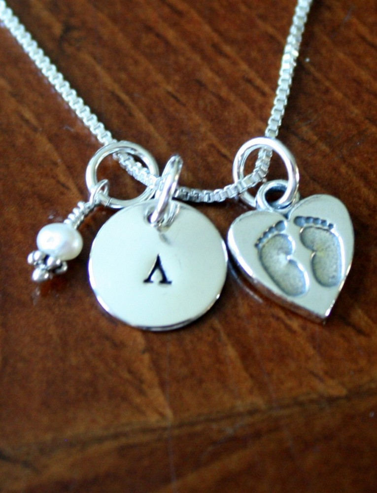 New Mom Necklace In Greek Push Present Kandsimpressions