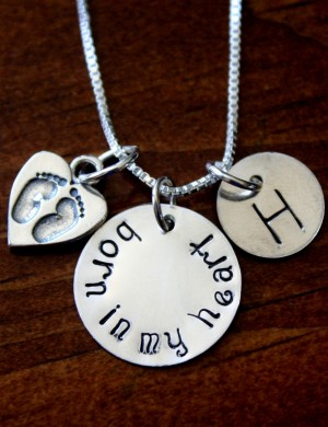 Adoption Necklace Born in My Heart   K&S Impressions