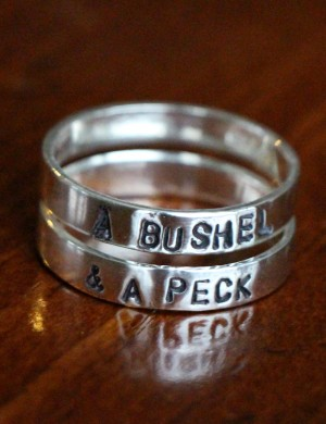 Sterling Silver Hand Stamped Cz Ring K Amp S Impressions