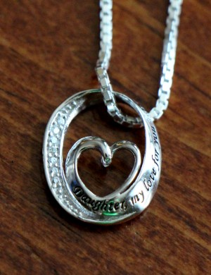 Daughter My Love Open Heart Sterling Silver Necklace K Amp S