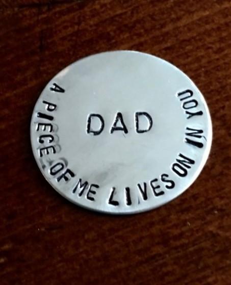 Personalized Memorial Pocket Token Kandsimpressions