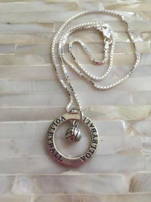 Sterling Silver Volleyball Player S Necklace