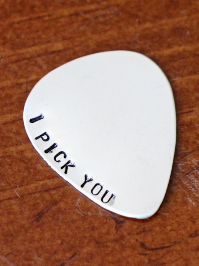 Dad S Personalized Guitar Pick Kandsimpressions