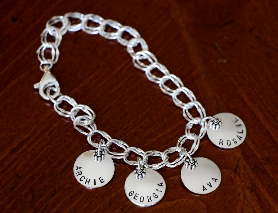 Family Name Charm Mothers Bracelet
