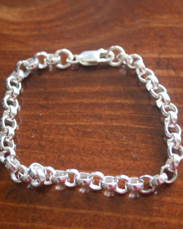 Thick Rolo Charm Bracelet Build Your Own Kandsimpressions