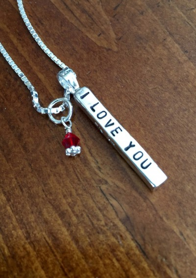 eb96cb0142ad2 I love you necklace Valentines Day Gift   kandsimpressions
