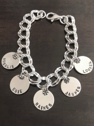 Family Name Charm Mothers Bracelet